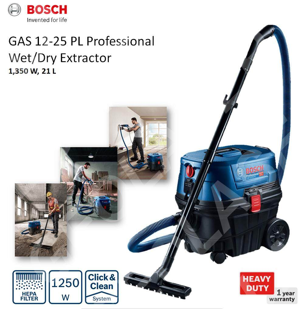BOSCH GAS 12-25 PL PROFESSIONAL WET & DRY EXTRACTOR / VACUUM CLEANER