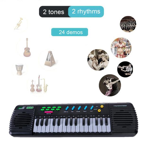 31 Bàn Phím Đàn Piano Điện Tử Đàn Phím Điện Tử Đồ Chơi Nhạc Cụ Đa Năng Có Micrô Cho Trẻ Em Mới Bắt Đầu