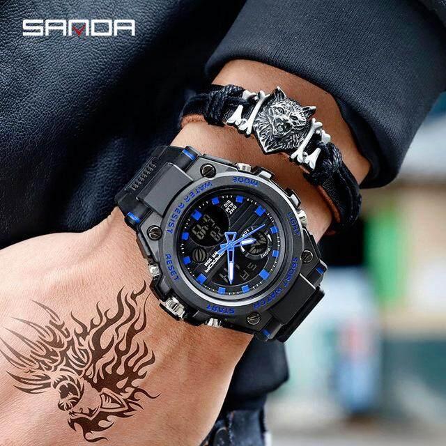 [BDAY SALE] 2019 New SANDA 739 Sports Mens Watches Top Brand Luxury Military Quartz Watch Men Waterproof S Shock Clock relogio masculino Malaysia