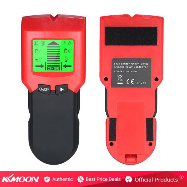 Máy dò đinh tán Kkmoon với màn hình LCD lớn có chế độ cảm biến Stud dùng để dò đinh tán/kim loại/cáp AC - INTL