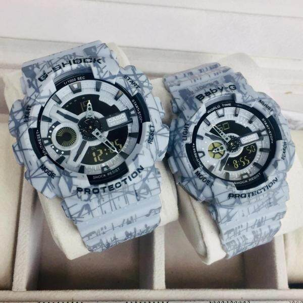 NEW_PROMOTION_G_Shock_Couple Set DOUBLE TIME Watches For Man And Women Malaysia