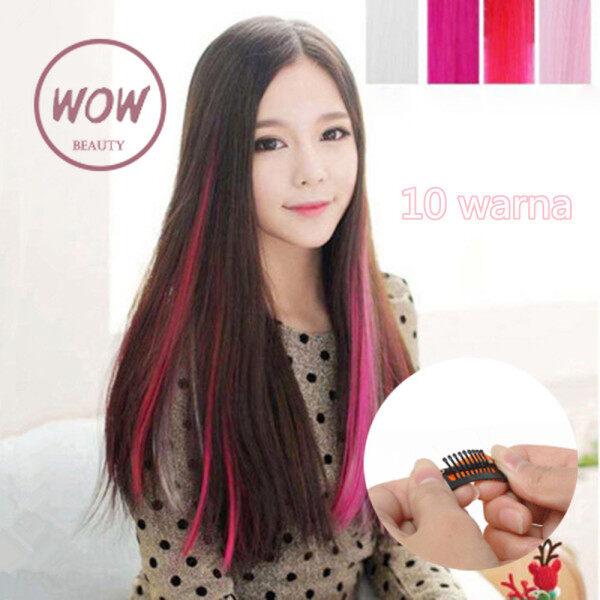 WOW-Vẻ Đẹp 1Pcs Hàn Quốc Phụ Nữ Tóc Tinsel Long Lanh Phần Mở Rộng Đầy Màu Sắc Dẻo Dai Tóc Miếng giá rẻ