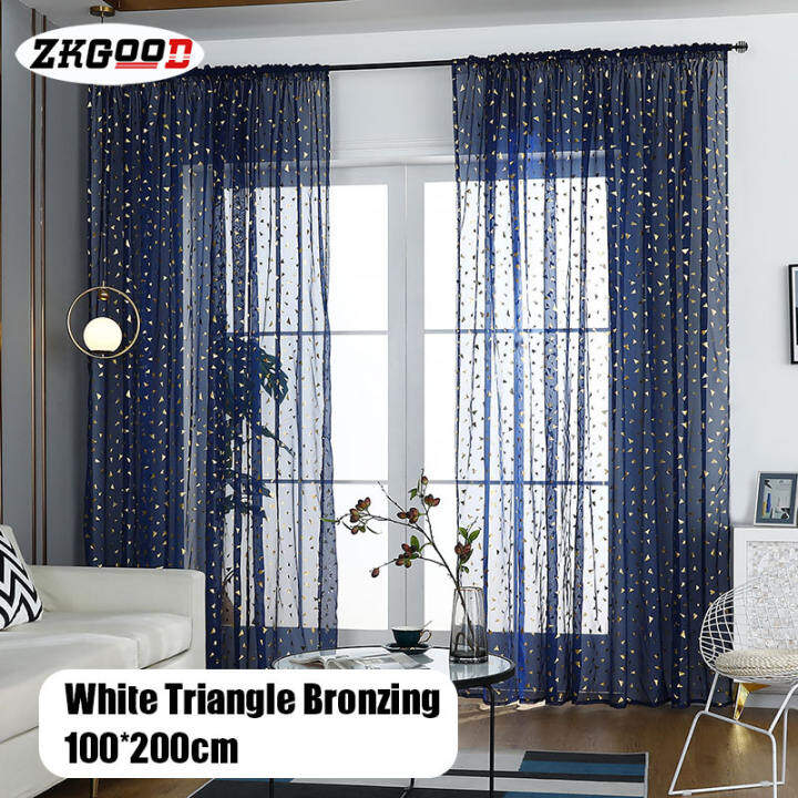 Zkgood Tulle Curtains Modern Design Simple Fashion Curtains For Living Room Bedroom Home Decor Lazada