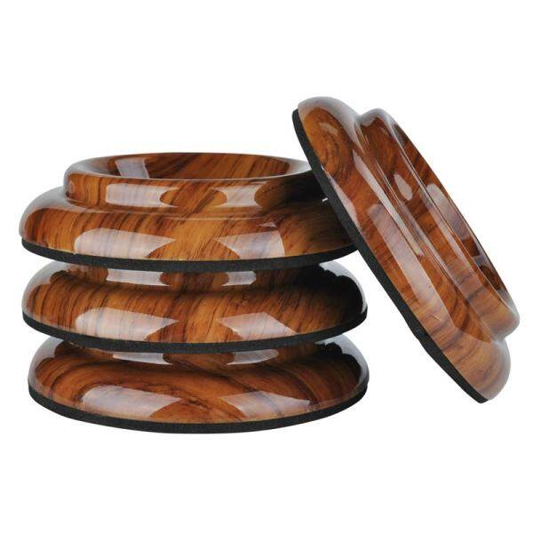 4Pcs Upright Piano Caster Cups,Rosewood Color Piano Caster Piano Leg Floor Protectors with Non-Slip & Anti-Noise Foam for Hardwood Floor(Acrylic) Malaysia