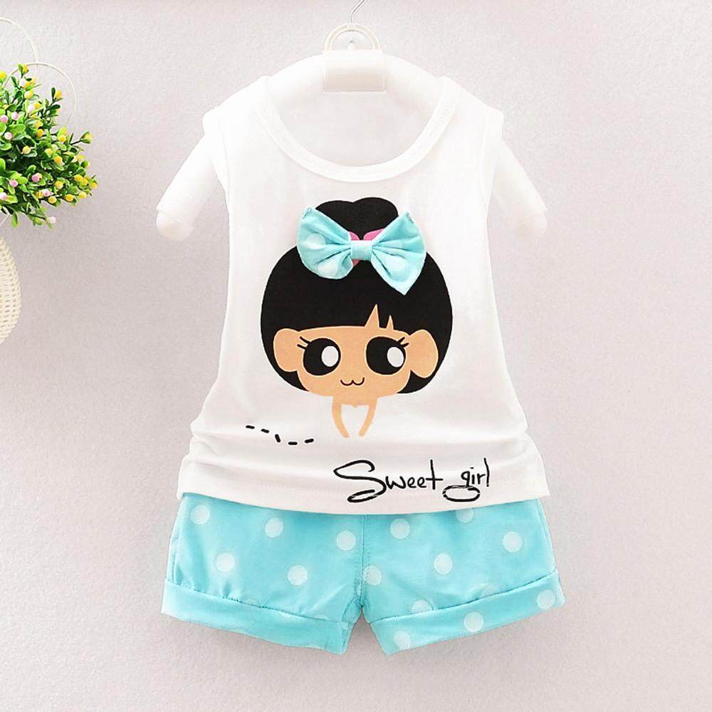 Toddler Infant Baby Girls Striped T shirt Tops+Pants Set Casual Outfits Clothes