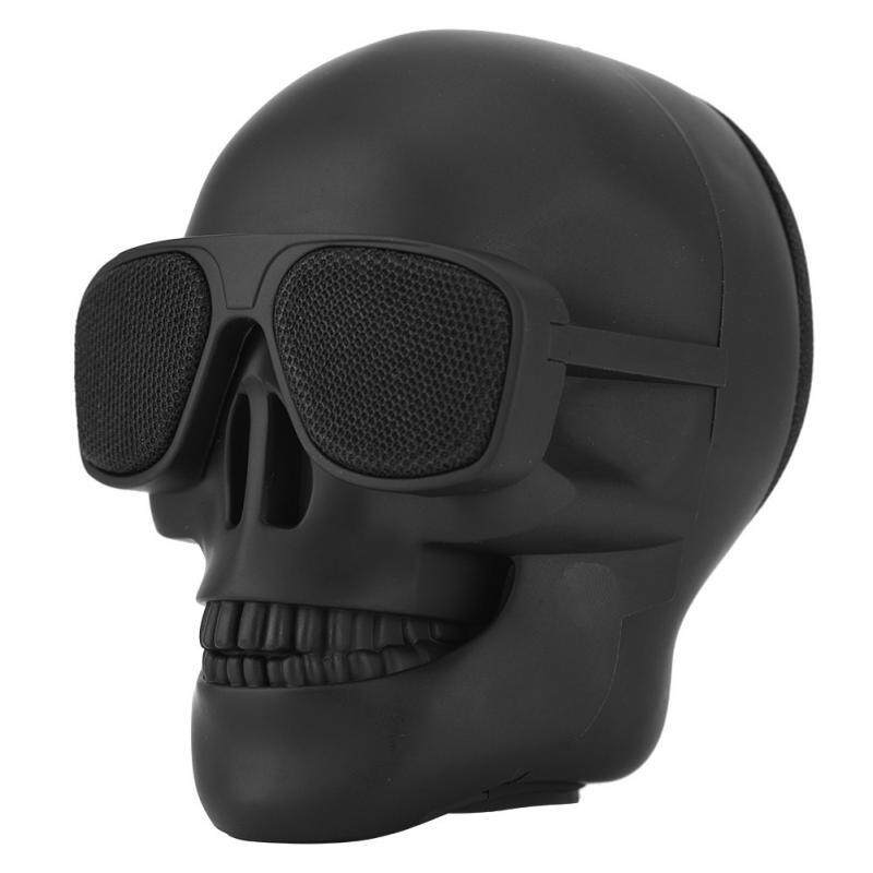 OEM Portable Mini Skull Head Speaker Wireless Bluetooth Stereo Speaker HD Bass Speaker Malaysia