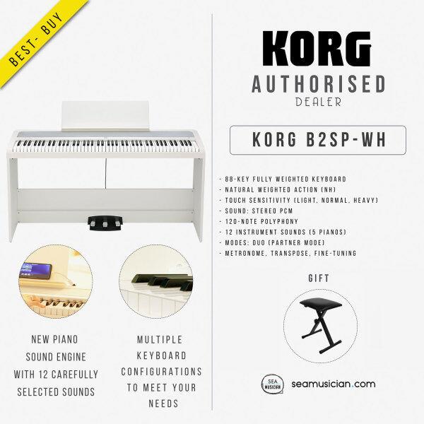 KORG DIGITAL PIANO B2SP-WH 88-KEY WHITE WITH FREE KEYBOARD BENCH (KORGB2SP-WH) Malaysia