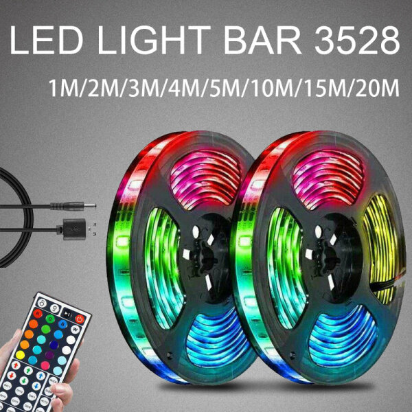 Bảng giá Đèn Led Dây 20M Băng Đổi Màu Rgb 3528 Dưới Tủ Thay Đổi Màu Sắc Nhà Bếp, RGB