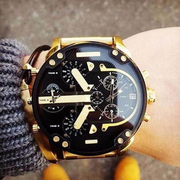 In Stock Mens Fashion Luxury Watch Stainless Steel Sport Analog Quartz Mens Wristwatches On Sale Malaysia
