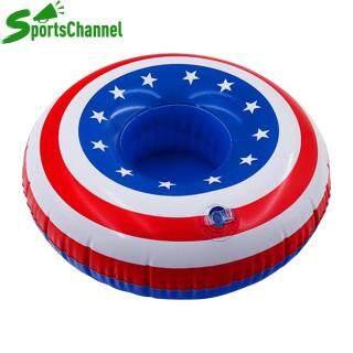 [Hàng Có Sẵn] Sportschannel Giá Đỡ Cốc Uống Nước Bể Bơi Bơm Hơi Cờ Mỹ Đế Lót Ly Đồ Chơi Nổi thumbnail