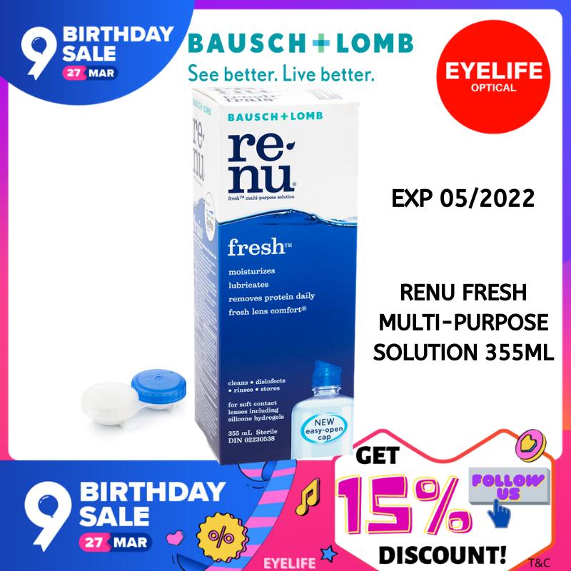 Renu Fresh Multi-Purpose Solution (355ml) / B&L Contact lens Solution