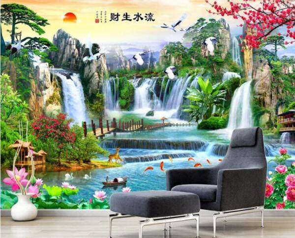 3D Wallpaper mural Chinese Style Landscape Wall Print Decal Wall Deco Indoor Outdoor wall Murals Wall Sticker Removable Wallpaper murals