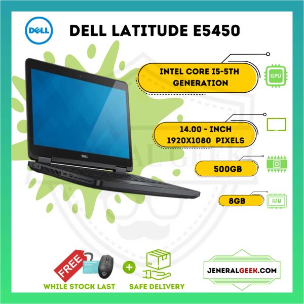 Dell Latitude E5450 - Intel®️ Core™️ i5 5th Gen - 8GB RAM - 500GB HDD - Cheap High Performance Laptop Malaysia