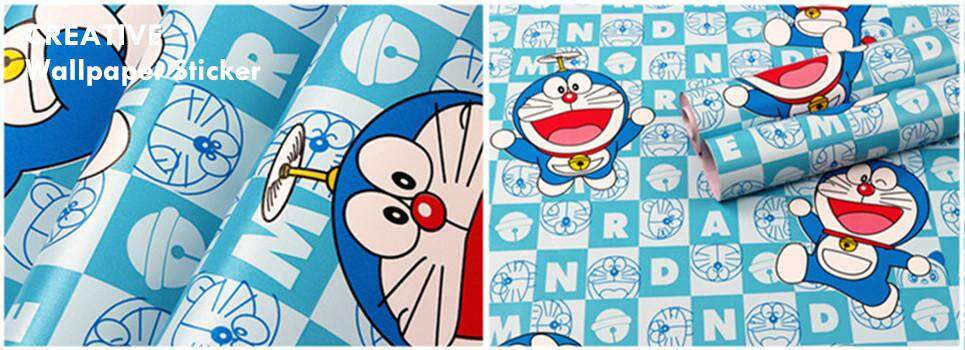 Wallpaper Sticker Pvc-(1 roll =Rm 30, 4 roll=Rm 100)Cartoon Design 45cm*10meter