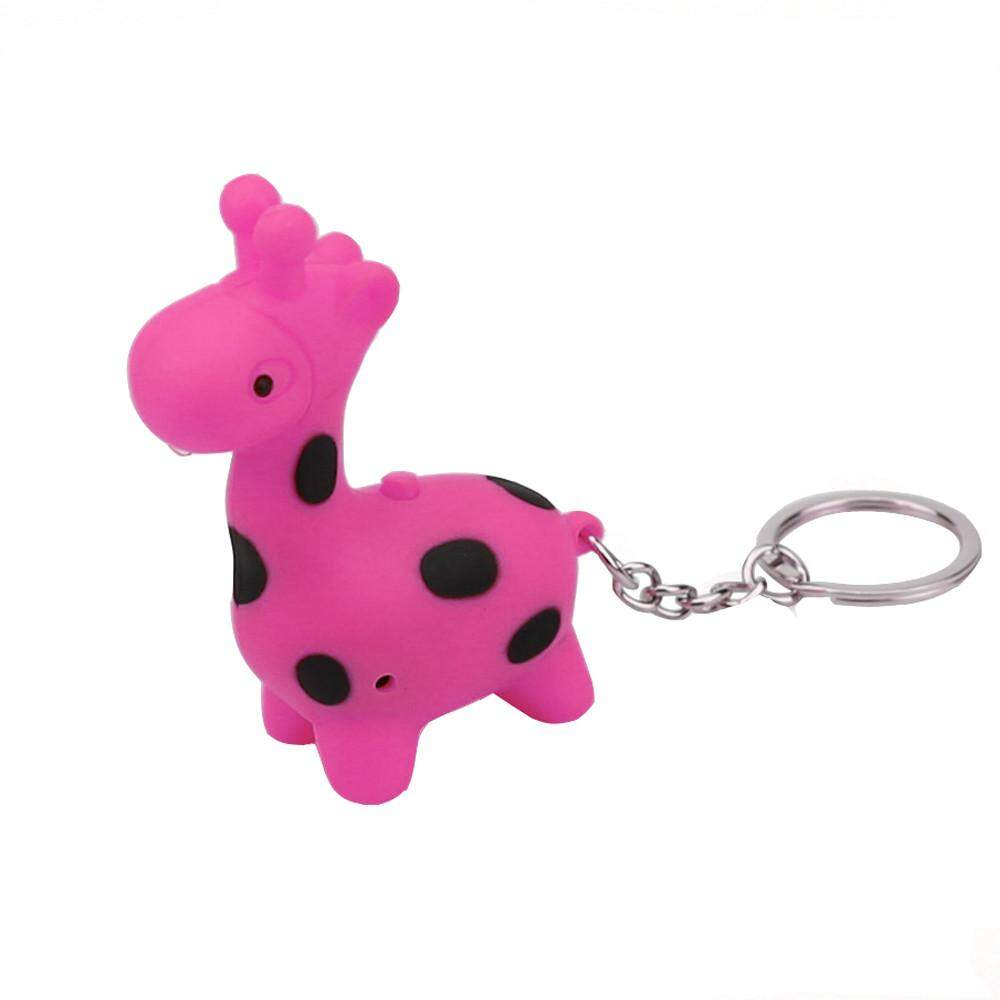LiJiangangstore 2019 Cute Giraffe Keychain With LED Light And Sound Keyfob Kids Toy Gift Malaysia