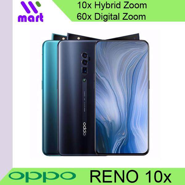 [12.12 Crazy Deals] OPPO Reno 10x Hybrid Zoom 48MP Sensor Ultra Night Mode 2 Year International Warranty smartphone