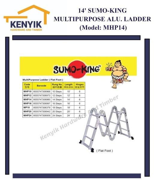 SUMO-KING 14 Multipurpose Aluminium Ladder - Flat Foot (MHP14)