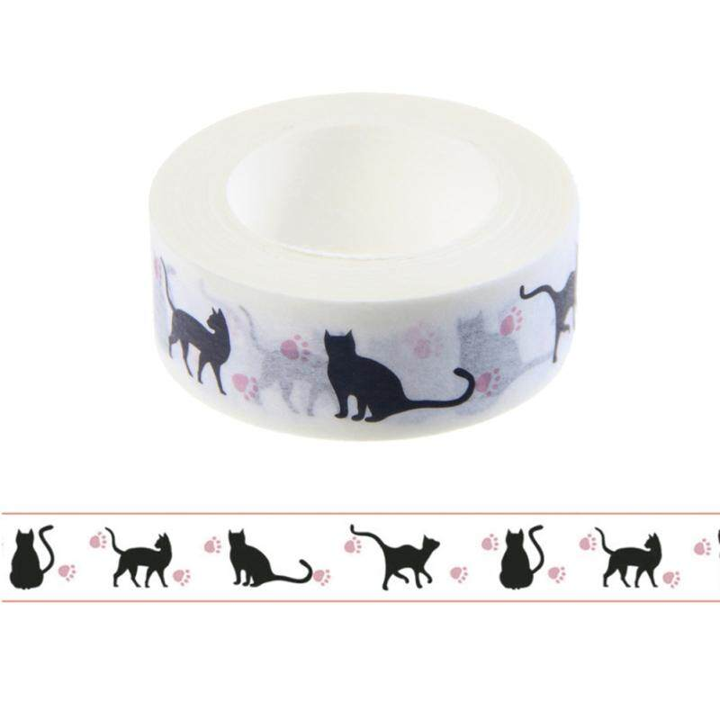 1 Pc Kawaii สีดำแมวเทปกระดาษญี่ปุ่นกรงเล็บแมวกาวเทป Iy Scrapbooking นมตกแต่ง By Happy Sunshine.