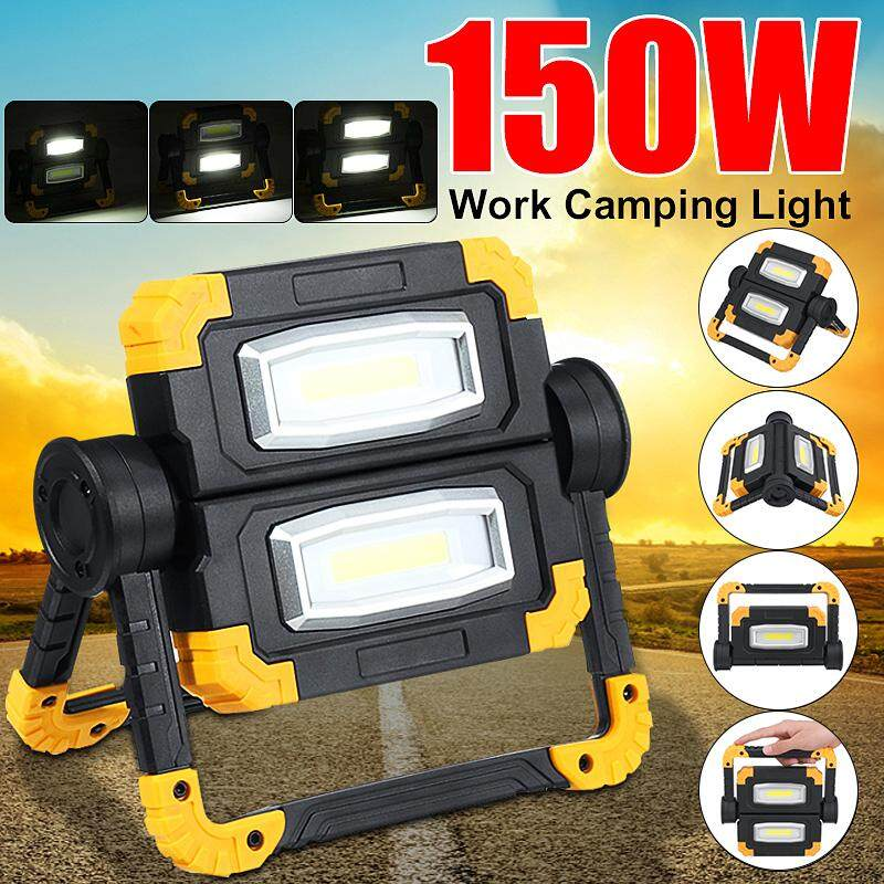 Portable 150W LED COB Work Light USB Rechargeable Folding Rotation Lights Hand Emergency Camping Flood Spot Lamp Ourdoor