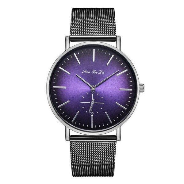 Mens Watches Fashion Luxury Stainless Steel Mesh Strap Watch Double Eye Dial Analog Quartz Men Watch reloj hombre Business Watch Malaysia
