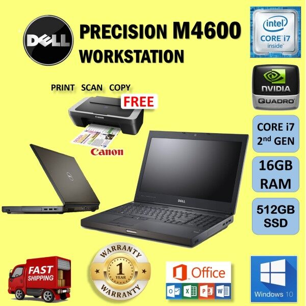 WORKSTATION DELL PRECISION M4600 CORE i7 2nd GEN / 16GB RAM / 512 GB SSD / REFURBISHED Malaysia