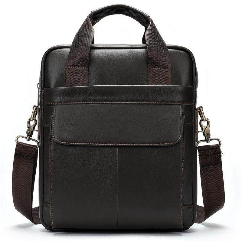MVA Men Bag Briefcase Famous Brand Business Genuine Leather 13 Inches Laptop Bags for Men Ipad Handbag Casual Shoulder Bags