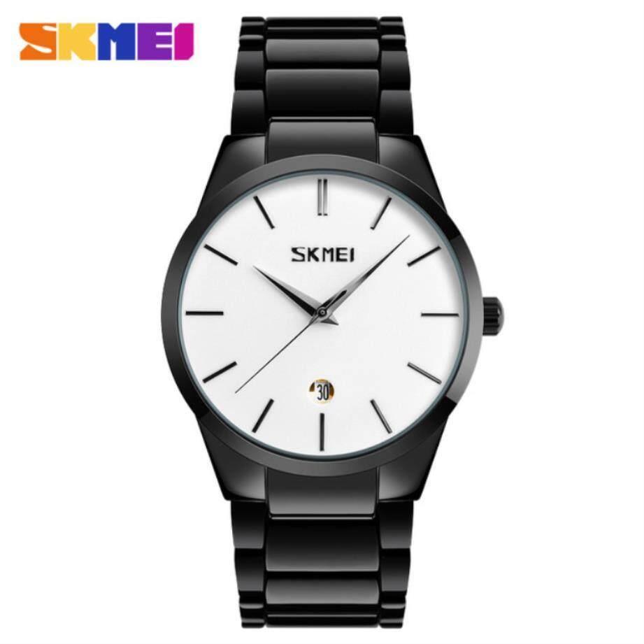 Skmei Car Hire Business Watches Mens Ultra Thin Quartz Wristwatches Brand Waterproof Minimalist Stainless Steel Watch Malaysia