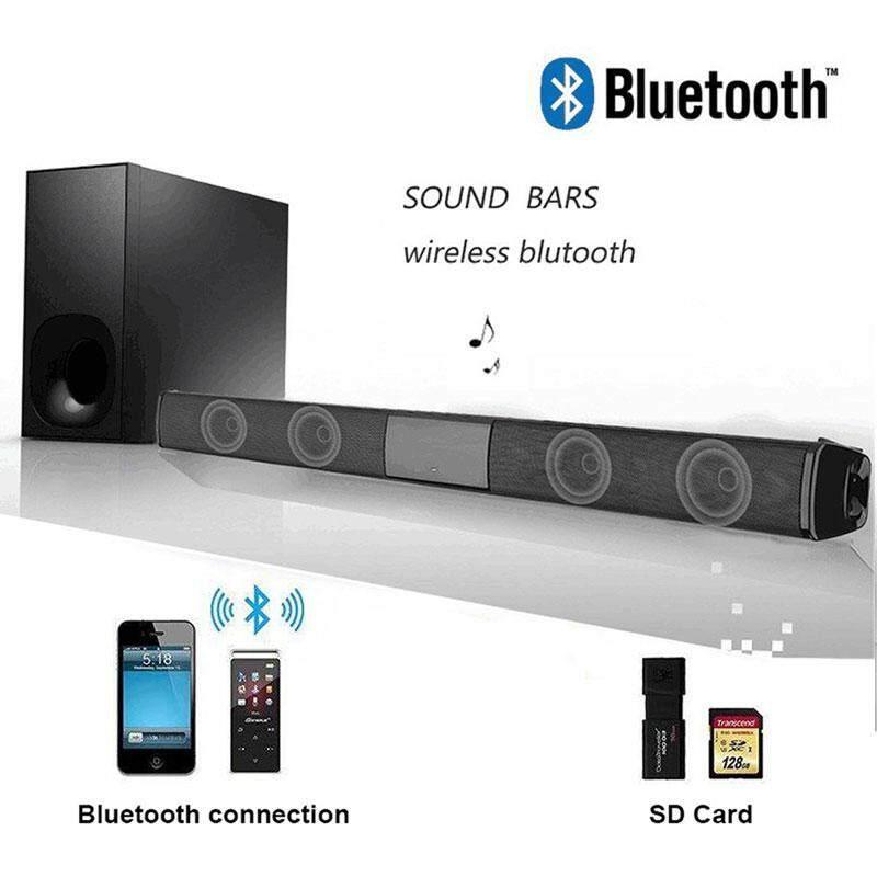MagicWorldMall Soundbar 5W*2 HIFI Bluetooth 4 0 Double Trumpet Smart Phone  AUX Home Theater FM Outdoor Universal Portable Bluetooth Speaker Wireless