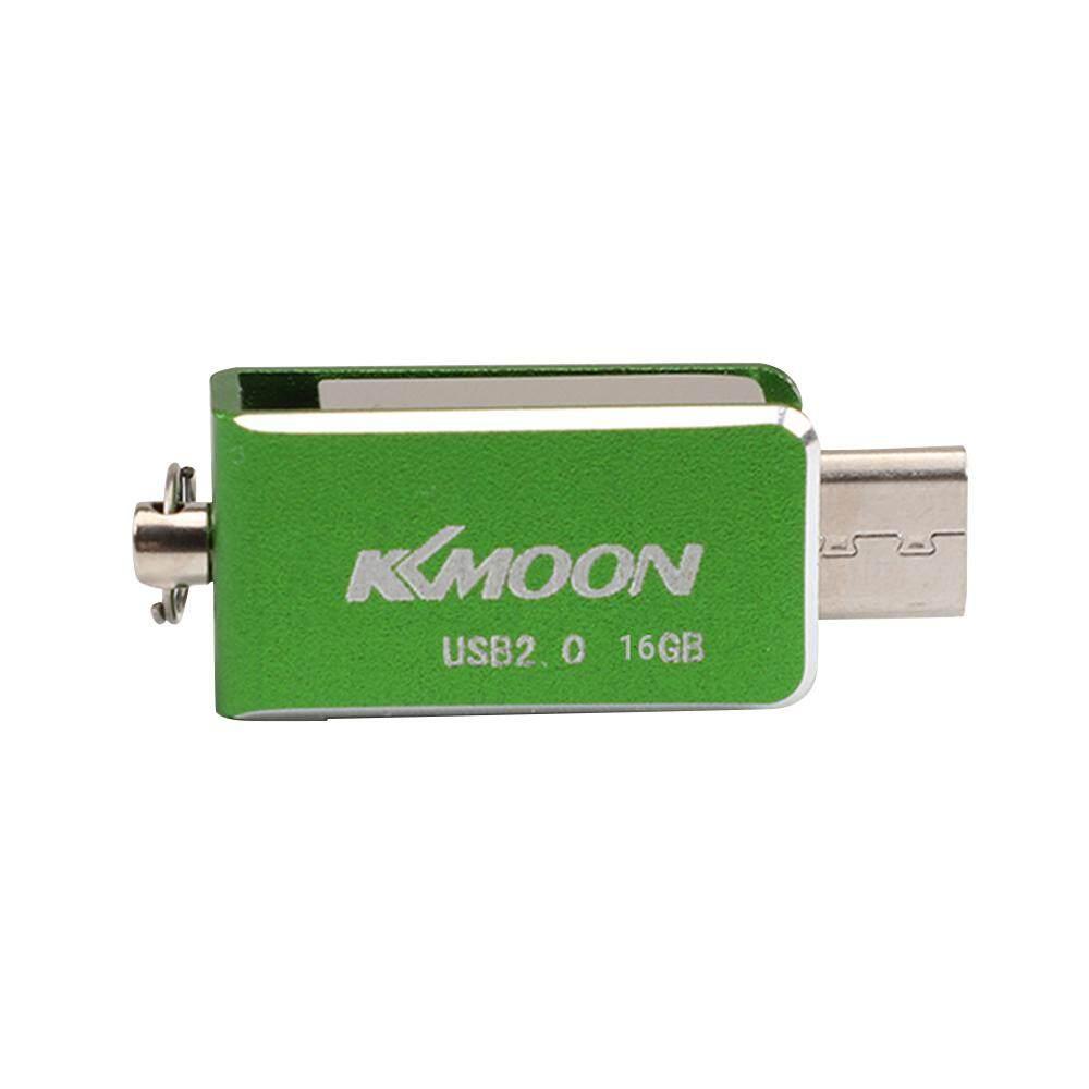 KKMOON USB 2.0 OTG Pen Drive Rotatable Flash Drive 16GB External Storage Pendrive Memory Dual Plug USB Stick U Disk Malaysia