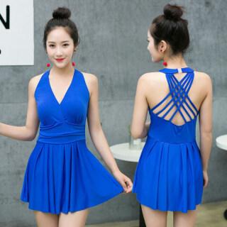 Áo Tắm Nữ Mới 2021 Một Mảnh Che Bụng Thon Gọn Gợi Cảm Bộ Đồ Bơi Suối Nước Nóng Hàn Quốc Cỡ Lớn Ôm Ngực Kín Đáo thumbnail