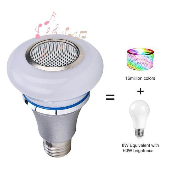 Color Changing Mini Smart Life Wireless Remote Control RGB Bluetooth Speaker Playing Home Dimmable Music Light Bulb