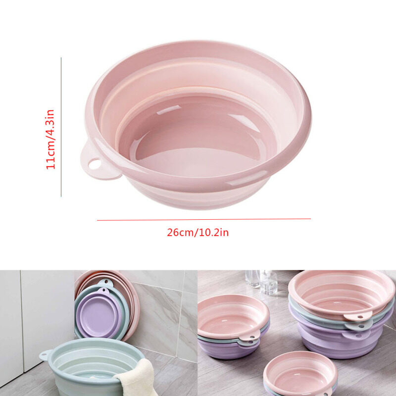 Foldable Basin Washbasin Plastic Laundry Tub Travel Basin