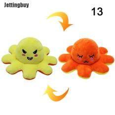 [Jettingbuy] BẠCH TUỘC Con Búp Bê Đồ Chơi Vải Nhung Lông Lật Hai Mặt Thay Đổi Cảm Xúc