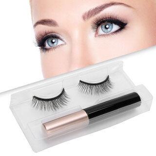 Bulu Mata Palsu Magnetis, Set Peralatan Riasan Bulu Mata Palsu Panjang Tebal Cairan Eyeliner Magnetik thumbnail