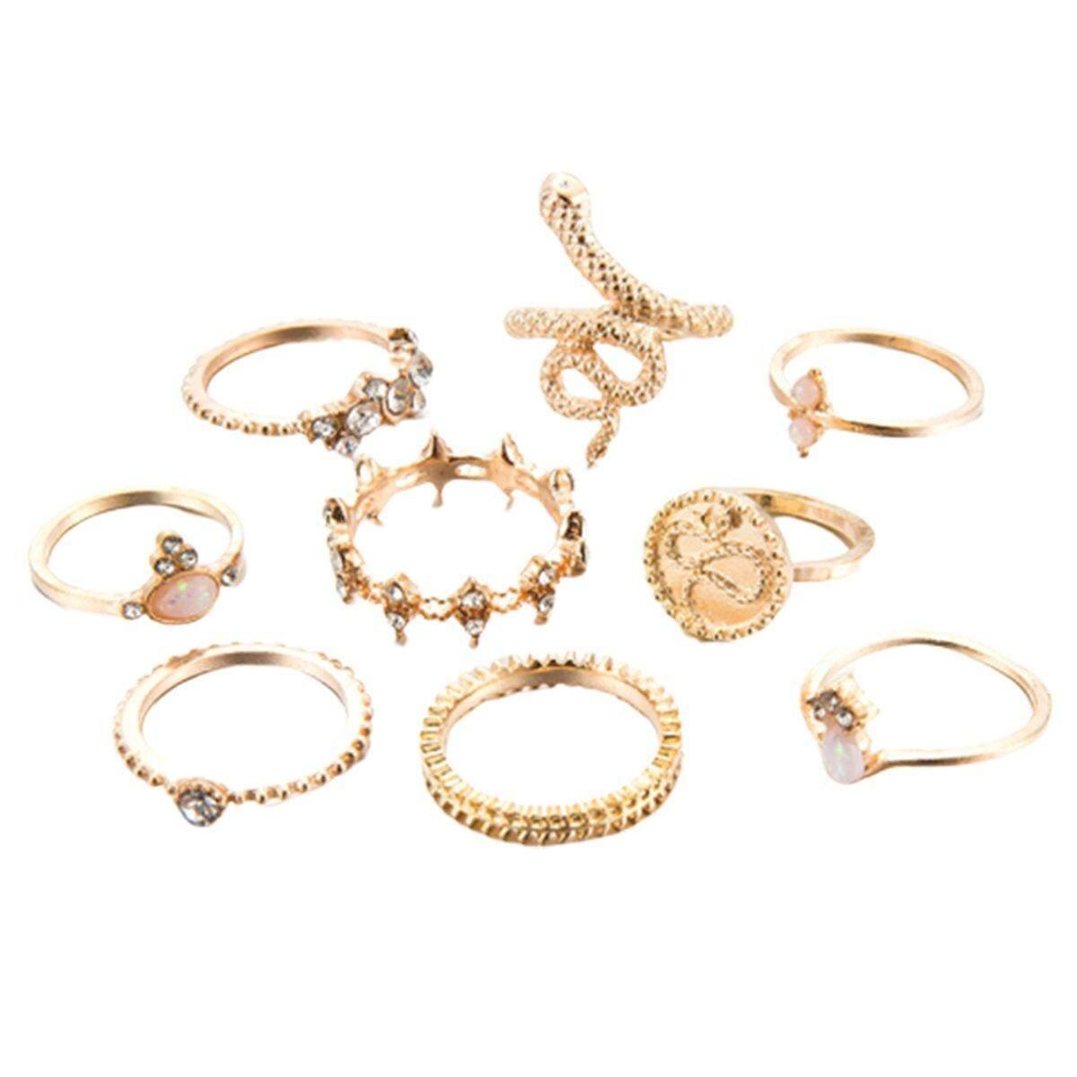 Best Seller Alloy animal zodiac diamond gold fashion ladies jewelry 9-piece jewelry