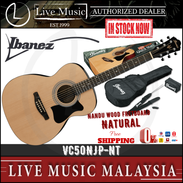 Ibanez VC50NJP Acoustic Guitar Jampack - Natural High Gloss (VC50NJP-NT) Malaysia