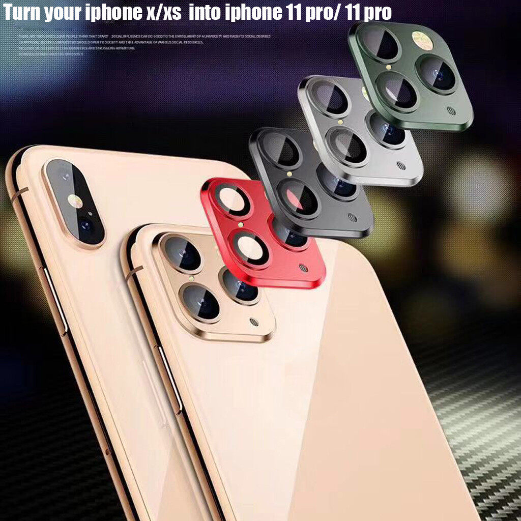 Camera Glass for iPhone 11 Pro Max Sticker Lens Film for iPhone X XS XR Metal Phone Camera Alumium Protective Film for iPhone XR Sliver