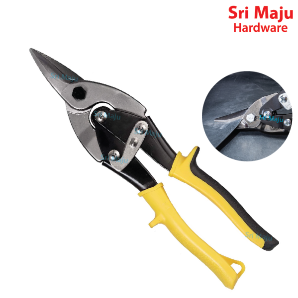 MAJU JC-001 10inch Aviation Tin Snip Straight Snipper Cutting Metal Sheet Scissor Shear Plier Cutter Gunting Besi