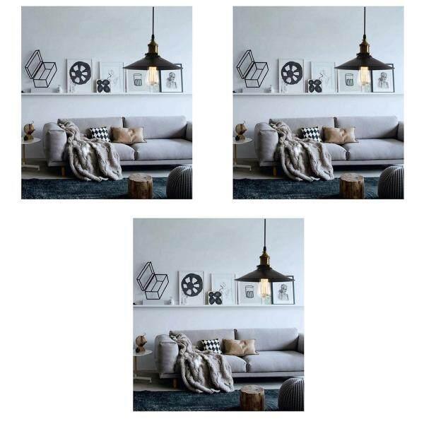 Perfk 3pcs Metal Lampshade Industrial Ceiling Pendant Light Fitting Lamp