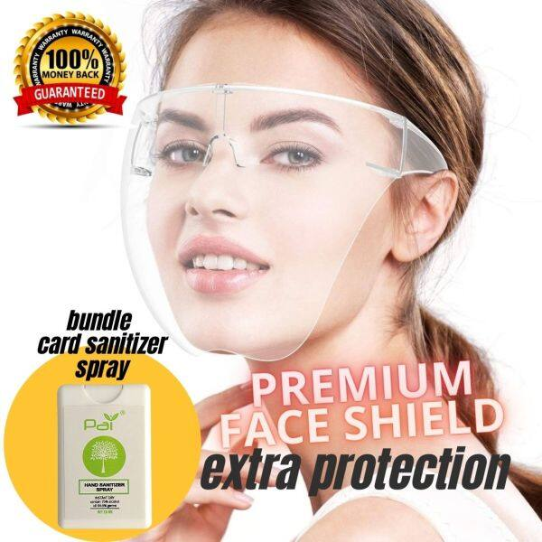 Laz Mall Face Shield Acrylic Full Face Shield Transparent Face Cover Clear Lens Large Visor Wrap Shield Extra Protection Outdoor Travel Cycling Protective Glasses Eyewear (Transparent)