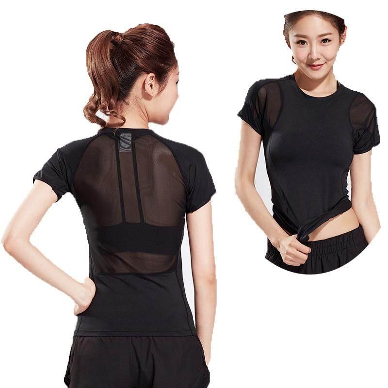 ec7cc1906 women short sleeves T-shirts sports yoga clothing quick dry slim fitness  running training T