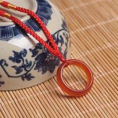 Mặt Dây Chuyền Hình Nhẫn Kemstone Cho Nam Nữ, Quà Tặng Trang Sức Tùy Chỉnh Mặt Vòng Cổ Hình Tròn Thời Trang Bằng Mã Não Đen