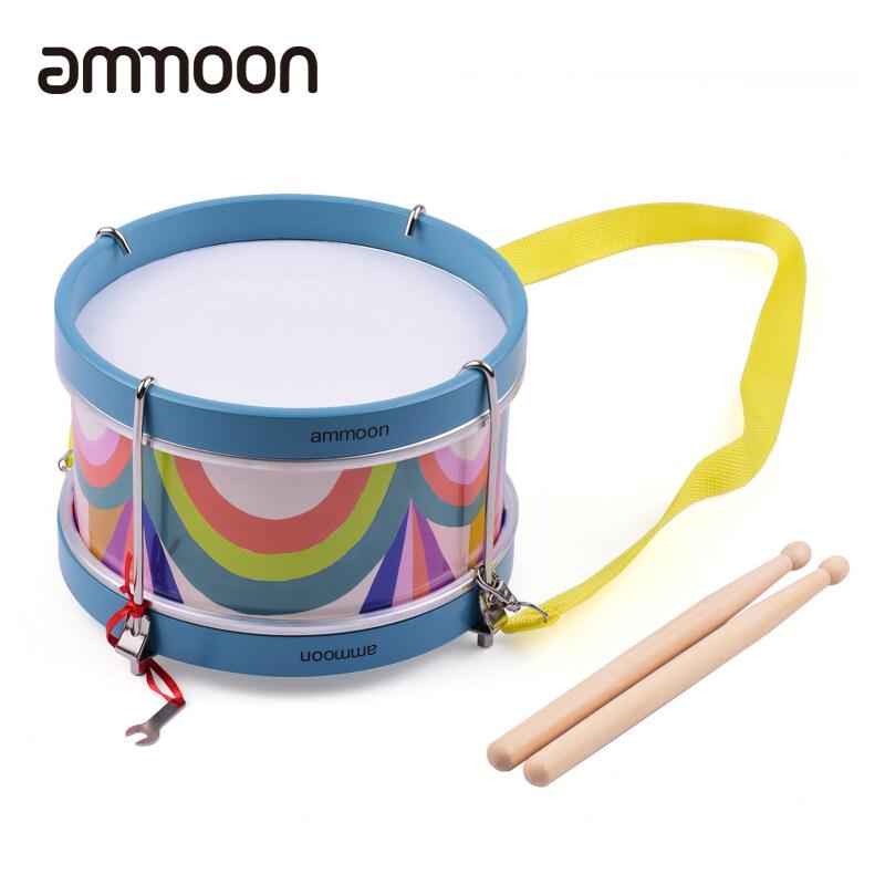 Trống Snare Nhiều Màu Cầm Tay Ammoon Bộ Gõ Cụ Âm Nhạc Đồ Chơi Lễ Hội Quà Sinh Nhật Cho Trẻ Em Cờ Lê Điều Chỉnh Dây Đeo Có Cần Trống