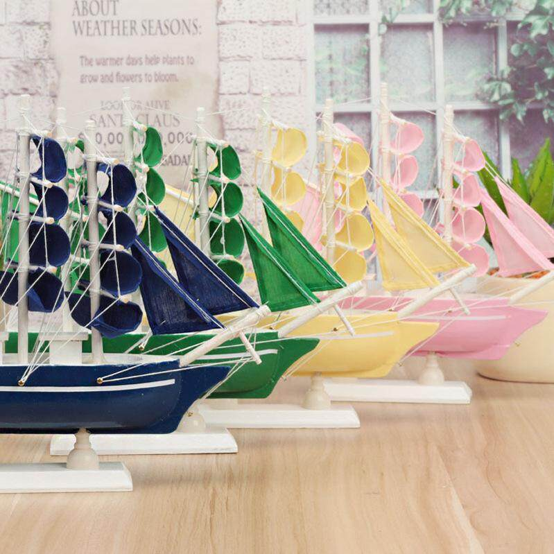 Wooden boat model creative crafts ornaments Mediterranean sails hand-swimming gifts 16 Camel