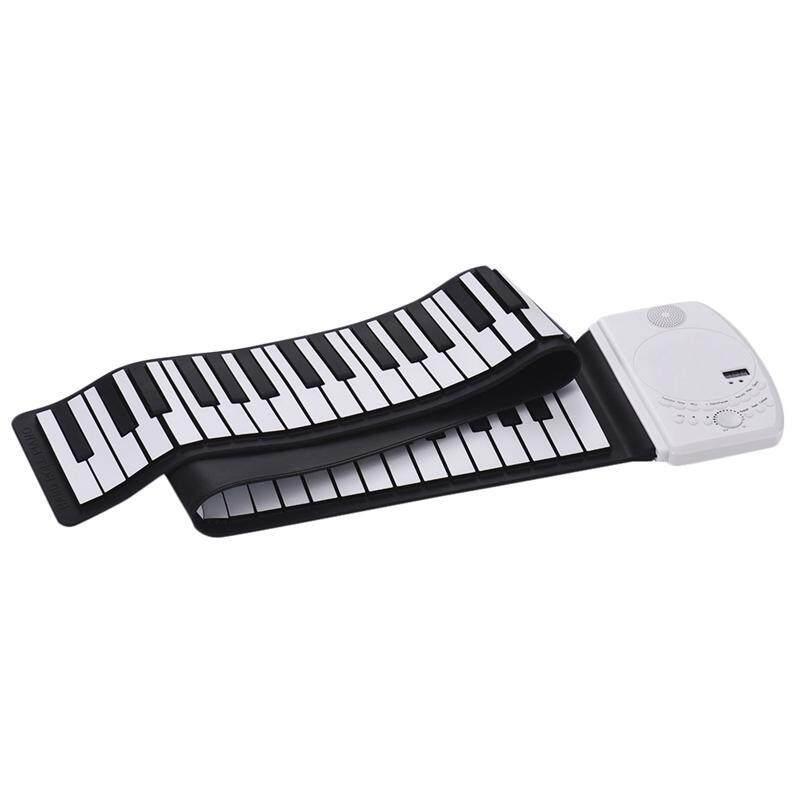 Portable 61 Keys Roll Up Piano Digital Keyboard Piano Soft Silicone Electronic Keyboard Recharge Battery Standard Piano Tone Malaysia
