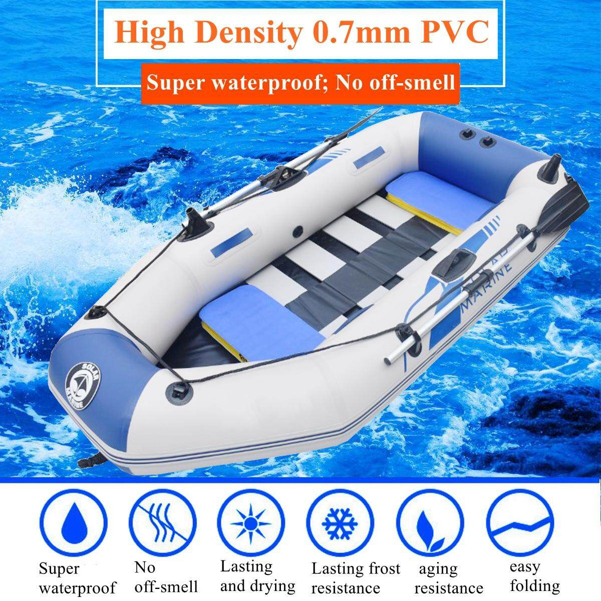 【Free Shipping + Flash Deal】1 Set Professional inflatables kayak PVC  Inflatables Rubber Fishing Waterproof Wear-resistant Kayak Pontoon Boat  Raft