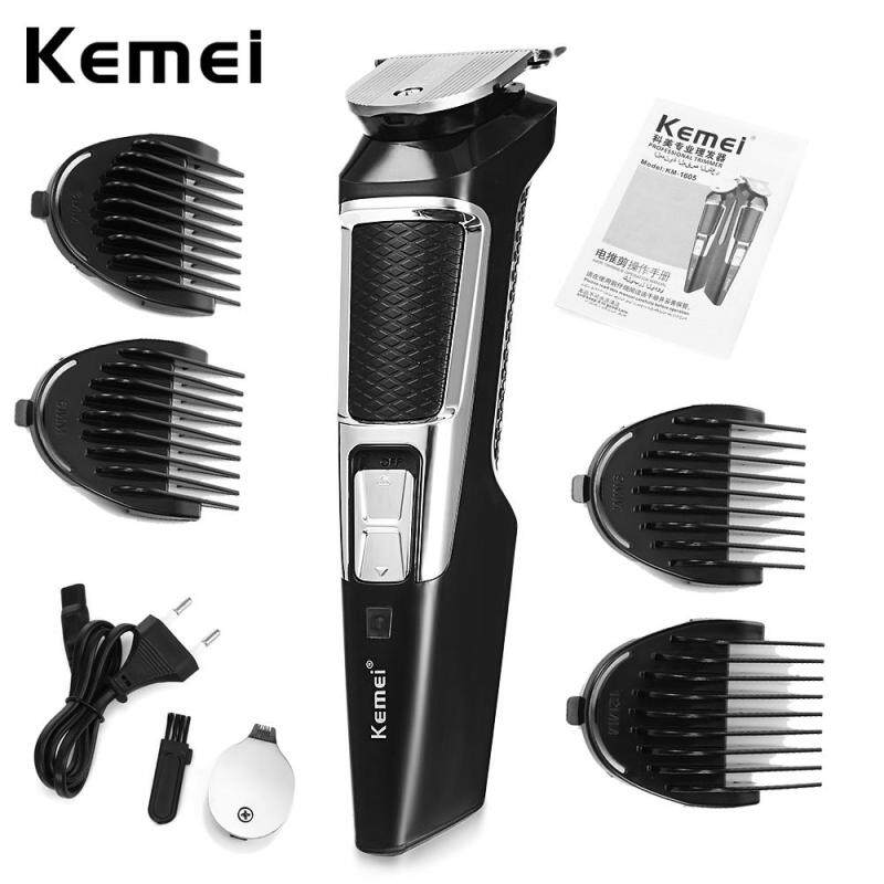Kemei Powerful Electric Hair Clipper Trimmer Styling Hair Beard Cut Builder KM-1605 Rechargeable Split Trimmer Free Shipping cao cấp