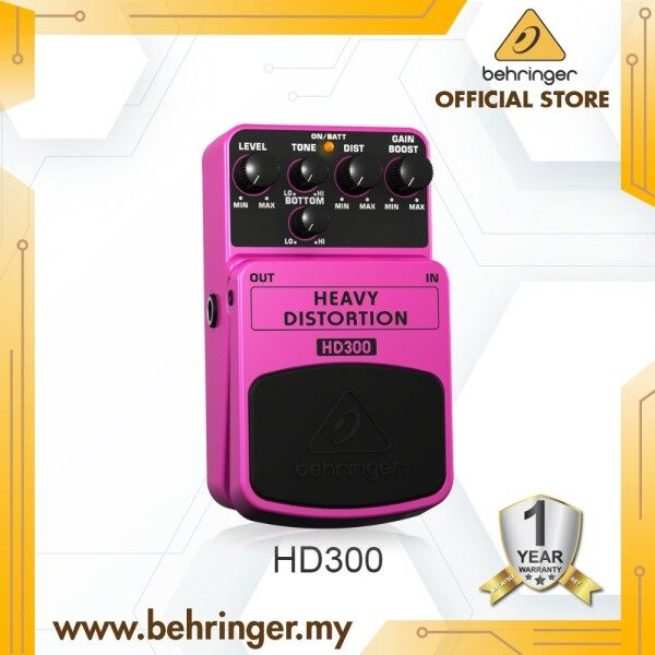 BEHRINGER HEAVY DISTORTION HD300 Heavy Metal Distortion Effects Pedal Malaysia