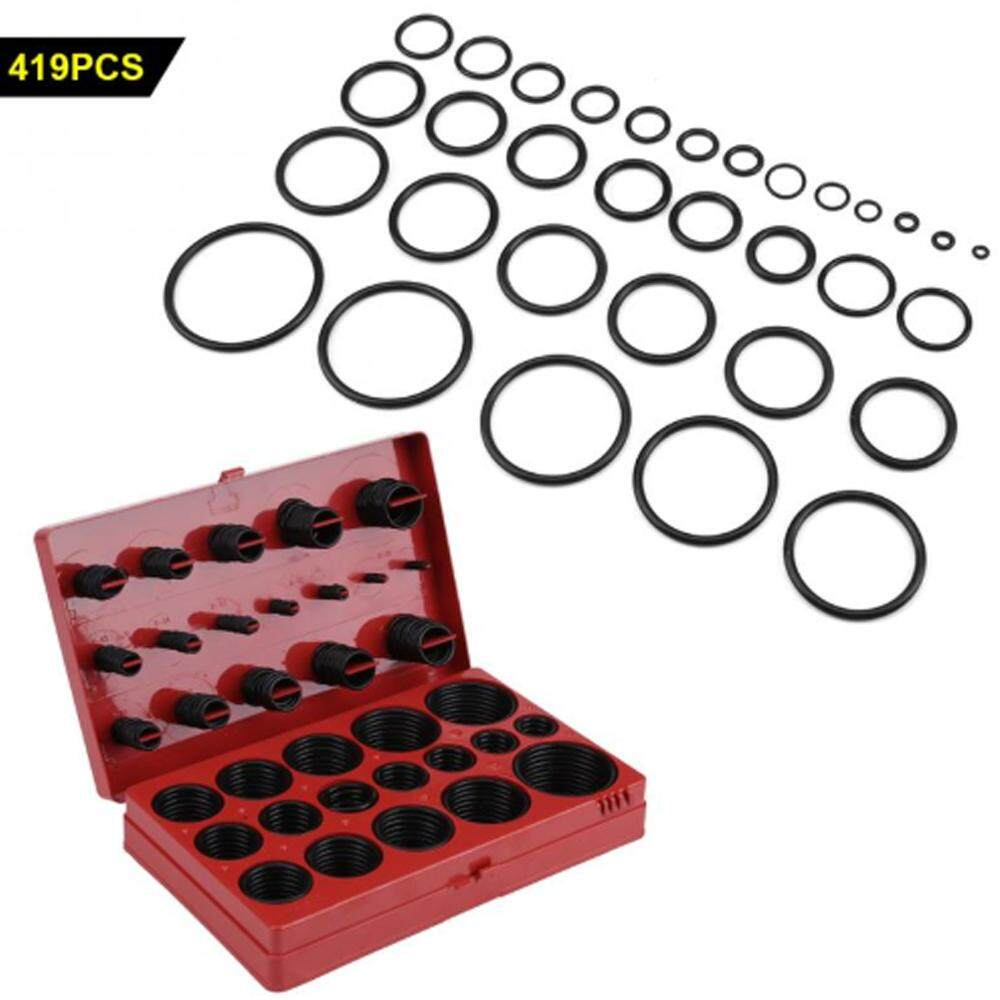 419PCS Assortment Set Seal Gasket Universal NBR Rubber Oil Resistance O-ring Kit