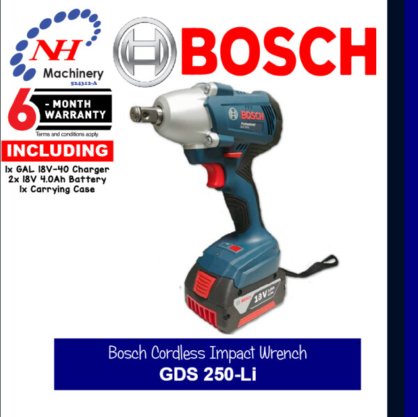 Bosch Cordless Impact Wrench - GDS 250-Li (Battery 4.0Ah)